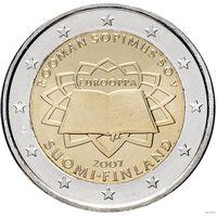 2 евро 2007 Финляндия 50 лет Римскому договору UNC из ролла