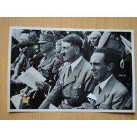 Открытка, вкладыш - Адольф Гитлер, третий рейх (оригинал).