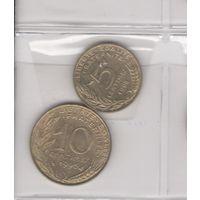 5 сантимов 1998 и 10 сантимов 1996. Возможен обмен