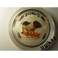 1 доллар 2007 Австралия год свиньи