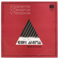 LP Modern Jazz Trio V.Ganelinas,V.Cekasinas,V .Tarasovas - CON ANIMA(Dziazo Kontrastai)/Трио современной джазовой музыки, ГАНЕЛИН ЧЕКАСИН ТАРАСОВ - CON ANIMA, джазовые контрасты (1981)
