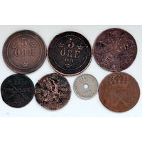 Лот монет (7 шт) Швеция+