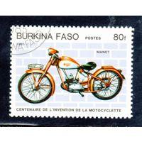 Буркина-Фасо. Ми-1000. Мотоцикл Manet. 1985