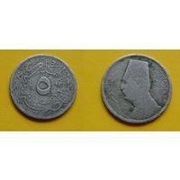 Египет 5 милимс 1935г. Фуад 1