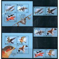 Самолеты и птицы Гибралтар 2001 год серия из 6 марок и 2-х блоков (М)