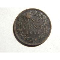 Канада 1цент 1884г