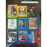 10 запечатанных пакетиков с наклейками по спортивным коллекциям