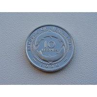 """Сьерра - Леоне. 10 леонов 1996 год  """"Мадам Йоко Рыбы""""  КМ#44"""