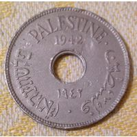 Палестина 10 милс 1942, Медь-никель, 6,5 г, 27 мм, KM# 4