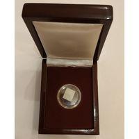 Футляр для монет с ложементом на 1 ячейку D 25 мм деревянный