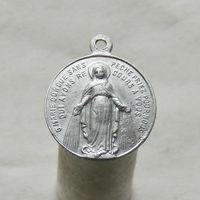 Французский католический церковный медальон с Божьей Матерью