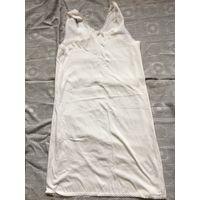 Майка ночная рубашка трикотаж белая 48 СССР Новая Хлопок