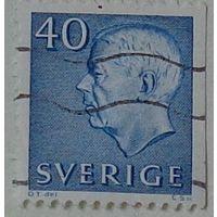 Король Густав VI Адольф. Швеция. Дата выпуска:1964-06-25