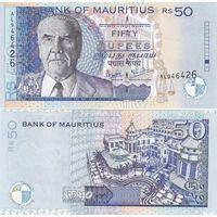 Маврикий 50 рупий 2001 года. Состояние UNC!