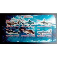 Чад 2013 Фауна Дикая природа Хищники Рыбы Акулы.