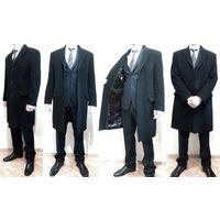 Демисезонное городское пальто в деловом стиле