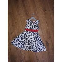 Платье в горох рост 104-110 см.