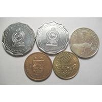 Шри Ланка, Македония, Малайзия, Латвия монетами.