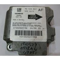 100524 Блок управления Airbag Opel Astra G 90520841