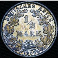 1/2 марки 1909 E