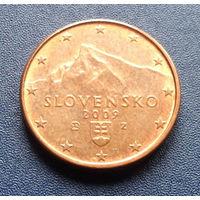 Словакия 1 евроцент 2009