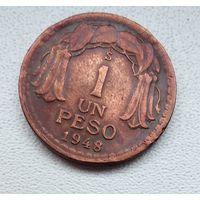 Чили 1 песо, 1948 6-1-25