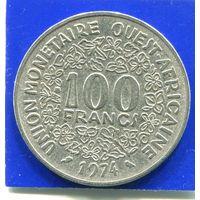 Западная Африка 100 франков 1974