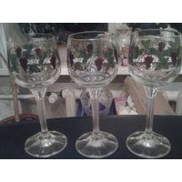 Бокалы для вина богемское стекло