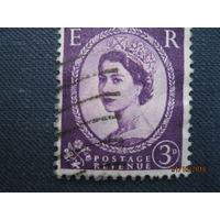 Марки Великобритания 1954 год Королева Елизавета II