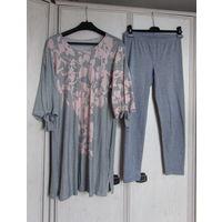 К 8 марта качественная одежда всего за 8 р.Туника (вискоза) + бриджи (хлопок) Р-р 50