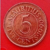 36-23 Маврикий, 5 центов 1990 г.