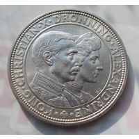 Дания, 2 кроны, 1923, серебро