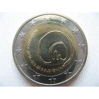 Словения 2 евро 2013г. 800 лет со дня открытия пещеры Постойнска-Яма. (юбилейная) UNC!