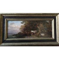 Johann Friedrich Voltz, пейзаж с коровами