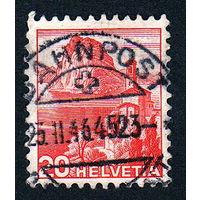 23: Швейцария, почтовая марка, 1936 год, номинал 20с, SG#375A