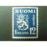 Финляндия 1947 стандарт, герб Mi-3,0 евро