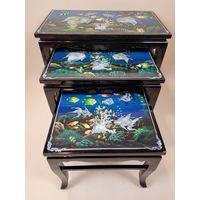 Комплект из 3-х столиков в стиле шинуазри