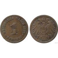 YS: Германия, Рейх, 1 пфенниг 1899F, KM# 10 (1)