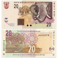 Южная Африка. 20 рэнд (образца 2005 года, P129a, UNC)