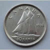 Канада 10 центов. 1938