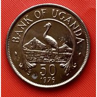 17-02 Уганда, 50 центов 1976 г.