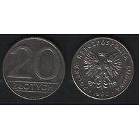 Польша y153.2 20 злотых 1990 год (mw) (h04)