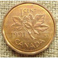 1 цент 1991 Канада