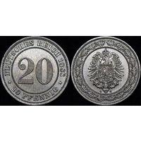 20 пфенигов 1888 G  UNC