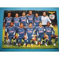 Футбольная карточка ФК Бенфика Лига чемпионов 2005/2006 гг.