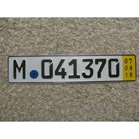 Автомобильный номер Германия M041370