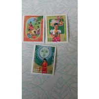 Серия марок  Шри - Ланка, 3 марки