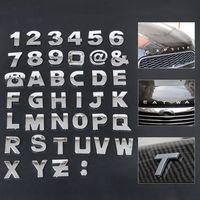 Буквы и цифры хром самоклеющиеся 28 мм х 28 мм