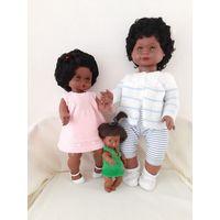 Куклы винтажные. Мулатки шоколадного цвета.Рост 68 см. 52 см. и маленькая 24 см.