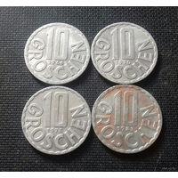 10 грошей, Австрия 1964, 1970, 1974, 1983 г.